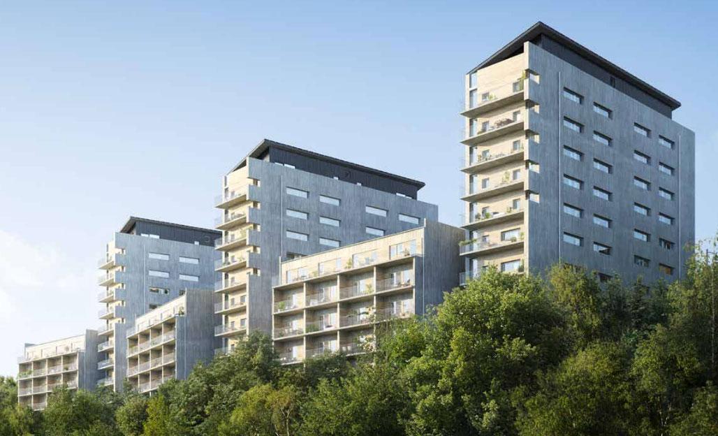 Brf Viva svensk betong cementa riksbyggen byggmaterialindustrierna byggmaterialinnovation