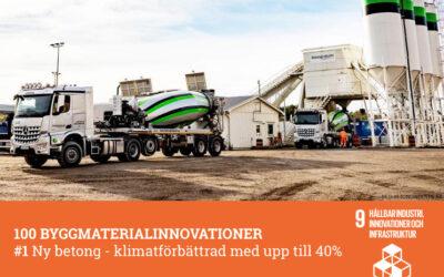 #1 Ny betong – klimatförbättrad med upp till 40%