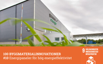 #10 Energipaneler för hög energieffektivitet