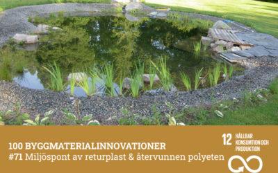 #71 Miljöspont av returplast & återvunnen polyeten