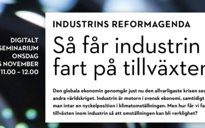 Industrins reformagenda – Digitalt seminarium 25 november