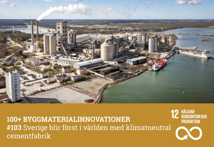 #103 Sverige först i världen med klimatneutral cementfabrik